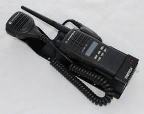 HRT Trägerblech Motorola GP360-11b FuG11b - WeTech 620B - Motorola Schwarz RAL 9005 matt