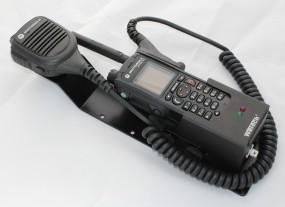 HRT Trägerblech Motorola MTP830/850FuG - WeTech WTC 680B/692/690 - Motorola Schwarz RAL 9005 matt
