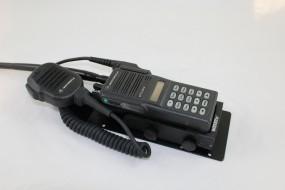 HRT Trägerblech Motorola MTS2010/2013, GP900-11b - WeTech WTC 604/605/615 - Motorola Schwarz RAL 90