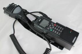 HRT Trägerblech Sepura STP8/9000 - WeTech WTC 621/672 - Sepura OptiVo Schwarz RAL 9005 matt