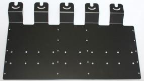 HRT Trägerblech 5-fach Sepura - Wetech 681 - Sepura Pulverbeschichtung Schwarz RAL 9005 matt