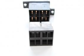 Zentralstecker-Set 2-polig schwarz