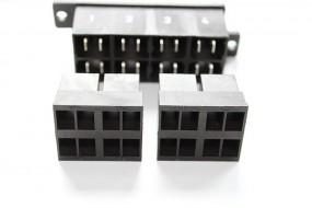 Zentralstecker-Set 4-polig schwarz