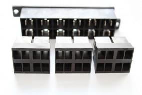 Zentralstecker-Set 6-polig schwarz