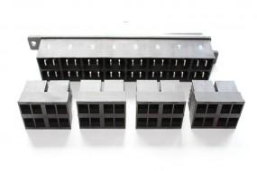 Zentralstecker-Set 8-polig schwarz