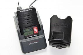 Swissphone Hurricane Duo mit Ladegerät und Ledertasche