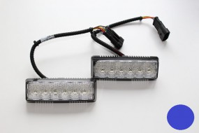 LED-Frontblitzer K-FS4, blau, Satz