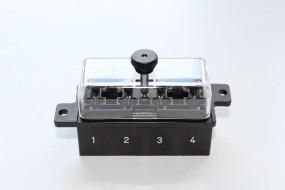 Sicherungsleiste 4-polig schwarz