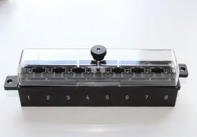 Sicherungsleiste 8-polig schwarz