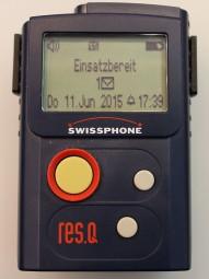 Swissphone RES.Q-GP V mit Ladegerät und Ledertasche
