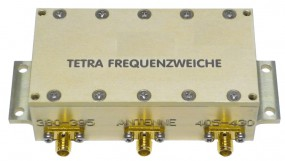 TETRA Weiche für 2 Geräte TMO und DMO an einer Antenne 380-395 / 405-430MHz
