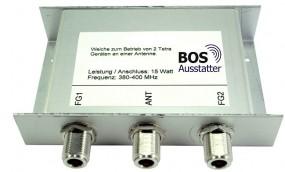 TETRA Spezialweiche für 2 Geräte TMO an einer Antenne, N-Anschluss