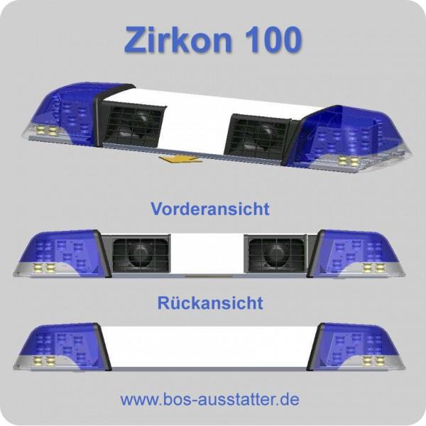 zirkon 100 mit 2 lautsprechern und blinker bus ansteuerung lichtbalken mit ton und blinker. Black Bedroom Furniture Sets. Home Design Ideas
