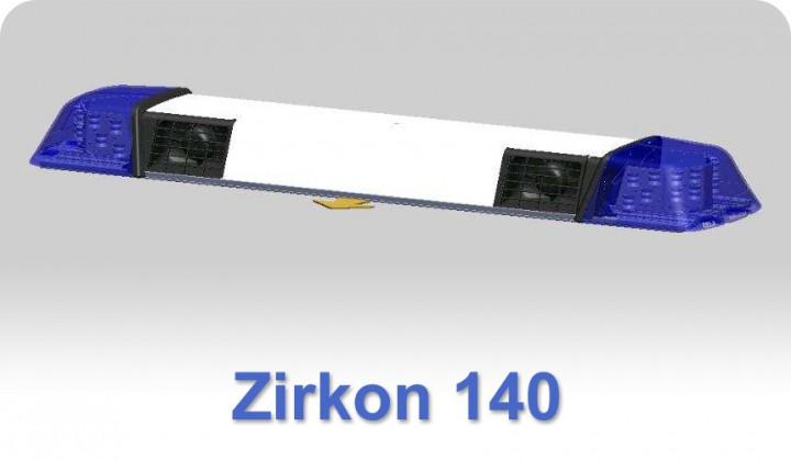 zirkon 140 mit 2 lautsprechern lichtbalken mit ton blaulicht lichtbalken warntechnik. Black Bedroom Furniture Sets. Home Design Ideas