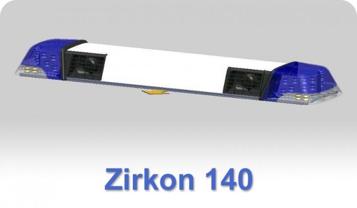 zirkon 140 mit 2 lautsprechern und blinker bus ansteuerung lichtbalken mit ton und blinker. Black Bedroom Furniture Sets. Home Design Ideas