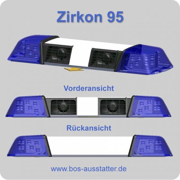 zirkon 95 mit 2 lautsprechern lichtbalken mit ton blaulicht lichtbalken warntechnik. Black Bedroom Furniture Sets. Home Design Ideas
